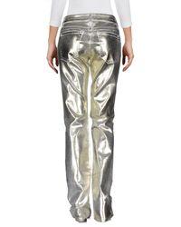 Blumarine - Metallic Denim Trousers - Lyst