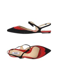 Moschino - Red Ballet Flats - Lyst