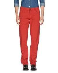 Trussardi - Red Casual Pants for Men - Lyst