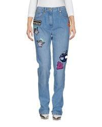 KENZO - Blue Denim Trousers - Lyst