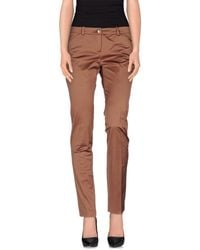 Pinko - Brown Casual Trouser - Lyst