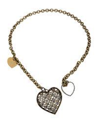 Lanvin - Metallic Necklace - Lyst