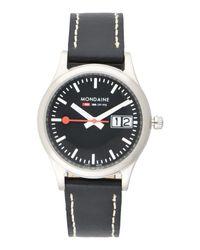 Mondaine - Black Wrist Watches - Lyst