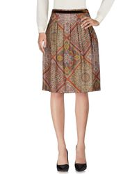 Etro - Gray Knee Length Skirt - Lyst