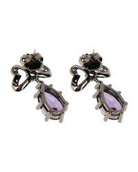 CZ by Kenneth Jay Lane | Purple Earrings | Lyst