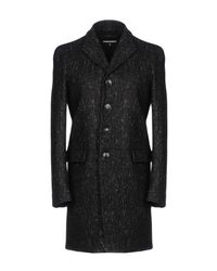 DSquared² - Black Coat for Men - Lyst