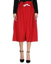 Kor@kor - Red 3/4 Length Skirt - Lyst