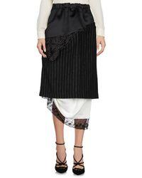 Facetasm - Black 3/4 Length Skirt - Lyst