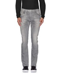Balmain - Gray Denim Trousers for Men - Lyst