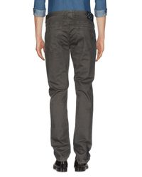 AT.P.CO - Gray Casual Pants for Men - Lyst