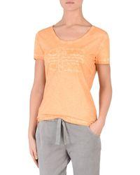 Napapijri - Orange Short Sleeve T-shirt - Lyst