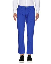 Mauro Grifoni - Blue Casual Pants for Men - Lyst