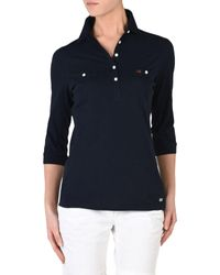 Napapijri - Blue Polo Shirt - Lyst