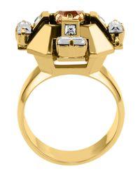 Lanvin - Metallic Ring - Lyst