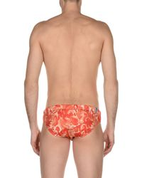 Bikkembergs - Orange Swim Brief for Men - Lyst
