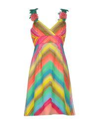 Fontana Couture - Green Short Dress - Lyst