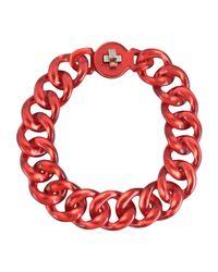 Emporio Armani - Red Necklace - Lyst