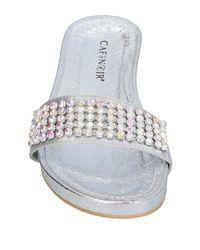 CafeNoir - Gray Sandals - Lyst
