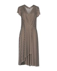 Tory Burch - Brown Knee-length Dress - Lyst