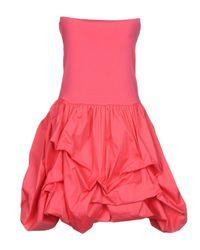 Carla G - Pink Short Dress - Lyst