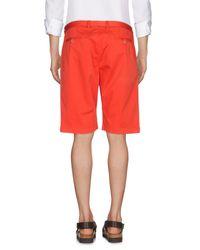 Etro - Red Bermuda Shorts for Men - Lyst