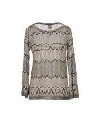 M Missoni - Gray Sweaters - Lyst