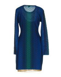 M Missoni - Blue Short Dresses - Lyst