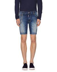 DSquared²   Blue Denim Shorts for Men   Lyst