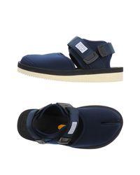 Suicoke - Blue Sandals - Lyst
