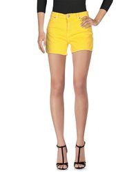 Dondup - Yellow Denim Shorts - Lyst