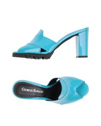 Giorgio Fabiani - Blue Sandals - Lyst