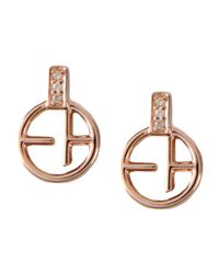 Emporio Armani - Metallic Earrings - Lyst