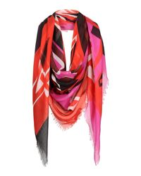 Alexander McQueen - Red Square Scarf - Lyst