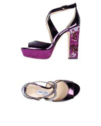 Jimmy Choo - Purple Sandals - Lyst