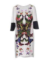 Class Roberto Cavalli - White Short Dress - Lyst