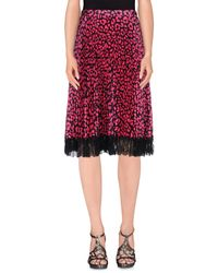 Christopher Kane - Purple 3/4 Length Skirt - Lyst