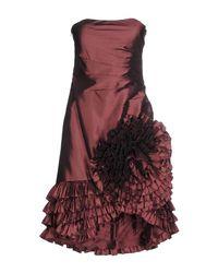 After Six - Purple Short Dress - Lyst