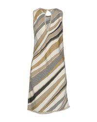 Gentry Portofino - Natural Short Dress - Lyst