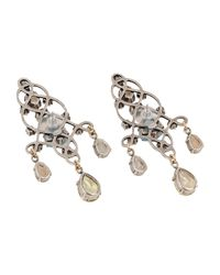 Lanvin - Metallic Earrings - Lyst