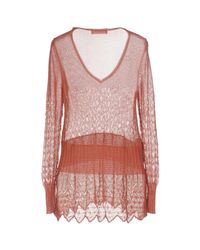 Stefanel - Pink Sweaters - Lyst