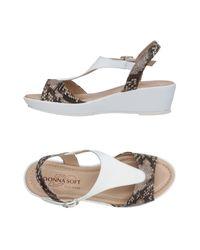 Donna Soft - Gray Sandals - Lyst