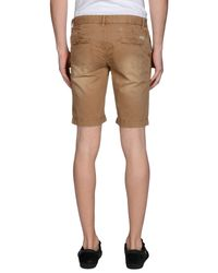 AT.P.CO - Natural Bermuda Shorts for Men - Lyst