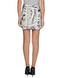 Balmain | White Denim Skirt | Lyst