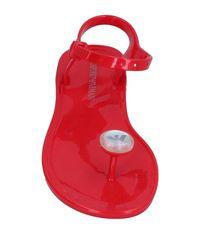 Emporio Armani | Red Toe Post Sandal | Lyst