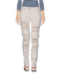 Relish - White Denim Pants - Lyst