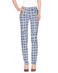 Balmain - Blue Casual Pants - Lyst