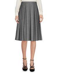 Annie P - Gray Knee Length Skirt - Lyst