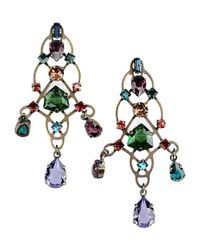 Lanvin | Metallic Earrings | Lyst