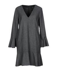 MAX&Co. - Gray Short Dress - Lyst