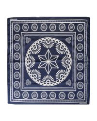 DSquared² | Blue Square Scarf | Lyst